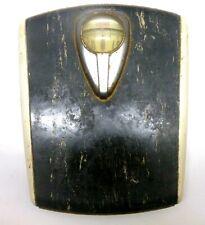 Vintage Antique Black White Borg Bathroom Scale Retro Mid Century Art Deco