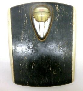 Vintage Antique Black White Borg Bathroom Scale Retro Mid Century Art Deco