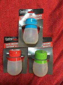 Silicone Squeezable Portable Salad Dressing Container Travel Dressing On The Go