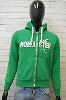 Felpa Uomo Hollister Taglia S Slim Maglione Pullover Cardigan Sweatshirt Cotone