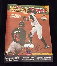 Will Rhymes Signed Toledo Mud Hens Muddy Times Magazine Detroit Tigers
