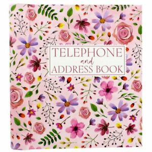 Pink Floral Telephone And Address Book  f4