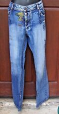 STRONG BOY ITALIAN JEANS SPACE TRAVELER MOTIF 36/50 RARE EUC