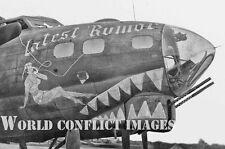 WW2 B-17 Bomber Latest Rumor 8x10 Nose Art Photo 385th BG ETO USAAF