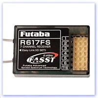 7ch FASST Futaba  P-R617FS/2-4G - 7ch Rx 2.4GHz (RB406945)