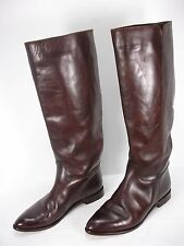 GOLDEN GOOSE DELUXE BRAND BROWN LEATHER KNEE HIGH RIDING BOOTS WOMEN'S 39