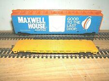 MAXWELL HOUSE 50' Plug Door & SLSF 40' Flat Car KD's  HO Scale