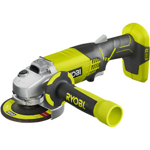 Ryobi One+ 18V 115mm Cordless Angle Grinder - Skin Only Three position auxiliary