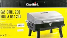 Char-Broil Stainless Portable Gas Grill 200 Cool-Touch Carrying Handles