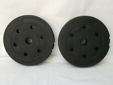 2- 3KG Weight Plates Disks Vinyl (3 KG= 6LBS for A total of 12LBS)