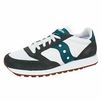 SAUCONY TRAINERS JAZZ ORIGINAL VINTAGE MENS GREY WHITE TEAL SNEAKERS