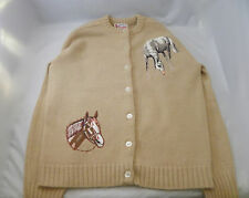 Racetrack Retro Horse Applique Sweater, Terrific condition, Kentucky Derby