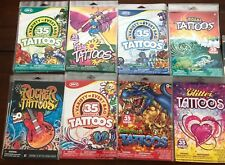 MEGA DEAL!! 20 PACKS SAVVI ASST. TATTOOS USA MADE GREAT PARTY FAVORS 730 TOTAL!!
