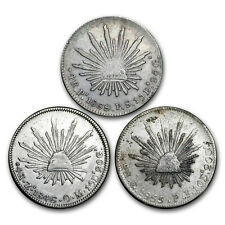 1827-1870 Mexico Silver 4 Reales Cap&Rays Cull (ASW .3930 oz)