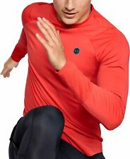 Under Armour ColdGear Rush Mock Long Sleeve Mens Training Top - Red