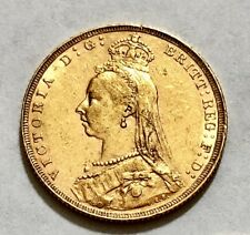 1891 Queen Victoria Londres Jubilee Head Gold Full Sovereign