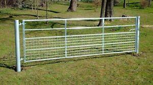 HALF MESH GALVANISED FIELD GATE Farm Entrance Security Dog Lamb 3ft 10ft 12ft