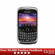 BlackBerry Curve 9300 Teclado AZERTY Móvil Desbloqueado Reino Unido Prístina-Negro