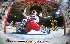 Mike Richter NETCAM 1999 New York Rangers Goalie Vintage Original NHL POSTER