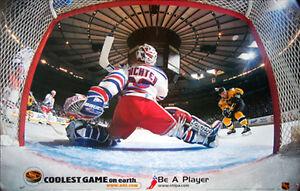 Mike Richter NETCAM 1999 New York Rangers Goalie Vintage Original NHL POSTER