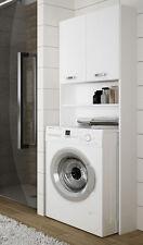 Waschmaschinenschrank Überbauschrank Badhochschrank 64cm weiß Hochglanz Neu (D9)