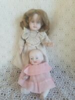 (2) Small All Bisque Dolls - Revised