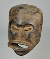Rare masque anthopomorphe HEMBA Congo anthropomorphic Mask African Tribal 0939