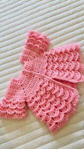 baby girl crochet cardigan - Pink