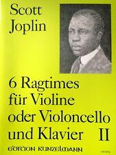 Joplin - 6 Ragtimes - für Violine/Violoncello und Klavier II