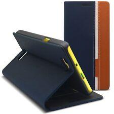 Carcasa Funda Folio Para Wiko Rainbow Monaco Diseño Azul/Beige