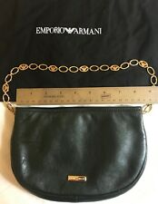 Authentic Emporio Armani Leather Bag, made in Italy