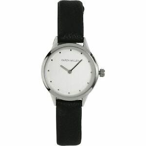 KAREN MILLEN Women's Watch, Black Strap, Boxed SKM005B