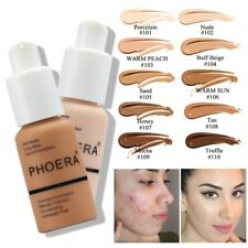 Authentic Phoera Soft Matte Full Coverage Liquid Foundation Oil Concealer