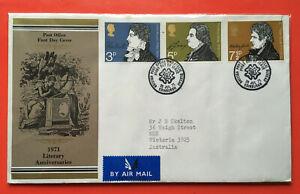 GB FDC 1971 LITERARY ANNIVERSARIES