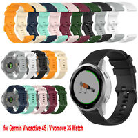 Watch Strap Watchband + Small Plaid for Garmin Vivoactive 4S / Vivomove 3S Watch