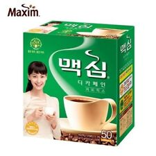 Korean Instant Coffee Mix  Maxim Decaffeinated 50 Sticks in 1 Pack Berverage M_o