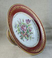 Coupe sur pied en porcelaine NAPOLÉON III EMPIRE Décor floral XIXème