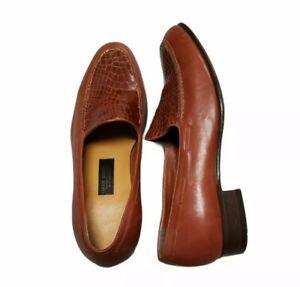 Handmade Vogue Regency Genuine leather Men's Slide On Shoes size 8.5 D