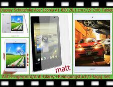 "3x Antireflex Display Schutz Folie Acer Iconia A1-830 7,9"" Tablet PC matt SCREEN"