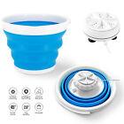 3 in 1 Portable Washing Machine Foldable Tub Turbine Laundry Washer USB Power photo