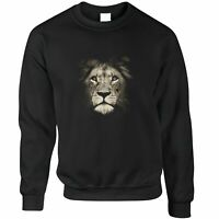 Stylish Animal Jumper Photographic Lion Face Design Big Cat King Jungle