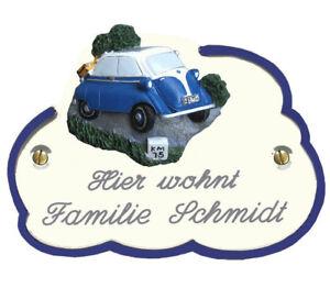 Türschild Wolke, 14x10 cm, Isetta, Motorrad, Lanz, Traktor, Dampflok, andere