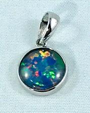 Sterling Silver Triplet Opal Pendant 925 Silver