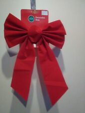 """Red 14"""" Christmas Bow"""