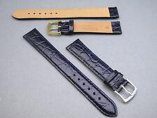 XL Uhrenarmband aus feinem Rindsleder mit Krokoprägung 16/18/20mm - NEU!