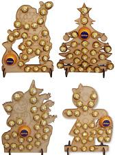 WOODEN ADVENT CALENDAR CHRISTMAS TREE FITS 24 FERRERO ROCHER & CHOCOLATE ORANGE