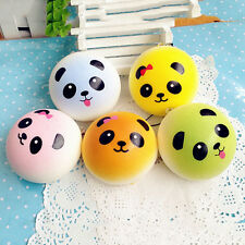 4cm DIY Panda Squishy Charm Soft Bread Straps Buns Cell Phone Key Chain Keyring