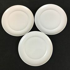 """Crate and Barrel Nova Spal Porcelain THREE 6 3/4"""" White Bread & Butter Plates"""
