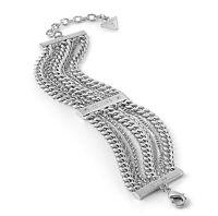 Guess UBB85115  Damen Armband IP Silber Kristall neu
