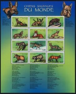 Congo 2000 MNH SS, Wild Dogs of the World (O15)